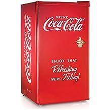 Nostalgia Coca-Cola Series RRF300SDBCOKE 3.2 Cubic Foot Refrigerator with Freezer Compartment