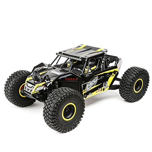 Losi 1/10 2.2 Rock Rey 4WD RC Rock Racer Brushless RTR with AVC and 2800Kv Brushless Power System (Battery and Charger Not Included), Yellow from Losi