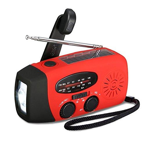 51cw5eIBf9L - EIVOTOR Hand Crank Solar NOAA AM/FM Radio Flashlight with Self Powered 100mAh Emergency Power Bank for Camping Outdoor Sports color