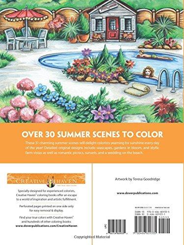Amazon Creative Haven Summer Scenes Coloring Book Adult 9780486809335 Teresa Goodridge Books