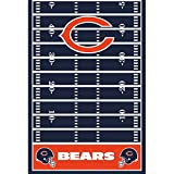 Amscan Chicago Bears Collection Printed Plastic Table Cover for Party, 6 Ct.