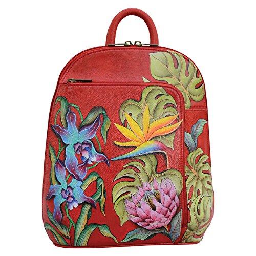 Anuschka Women's Genuine Leather Sling-Over Travel Backpack | Hand Painted Original Artwork | Island Escape
