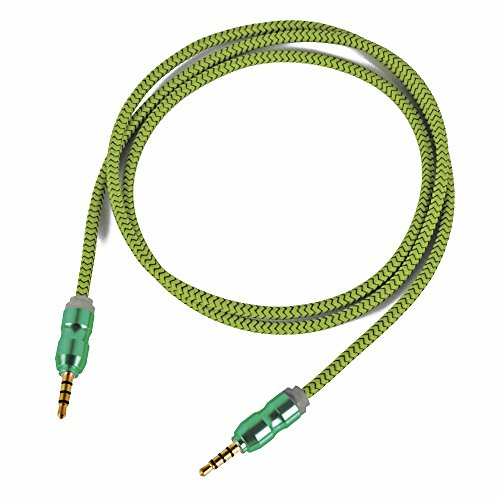 Asamoom 3.5mm Aux Cable Male to Male Stereo Audio Cable (1m) for Headphones iPods iPhones iPads Speaker Car Stereos (Green)