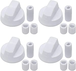 Appliancemate white Oven Control Switch Knob with 12 Adapters