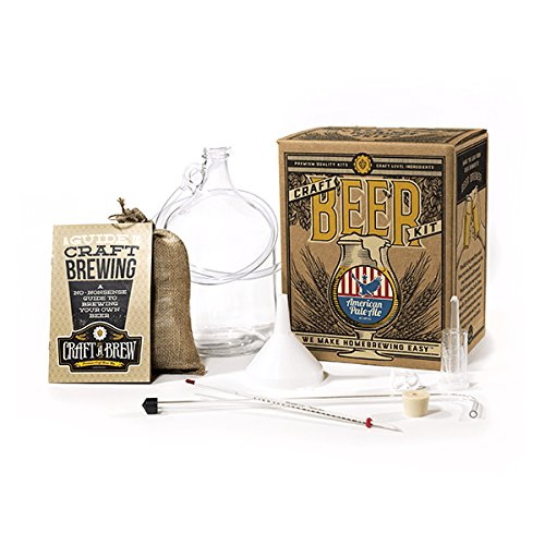 (Craft A Brew BK-APA American Pale Ale Reusable Make Your Own Beer Kit – Starter Set 1 Gallon)
