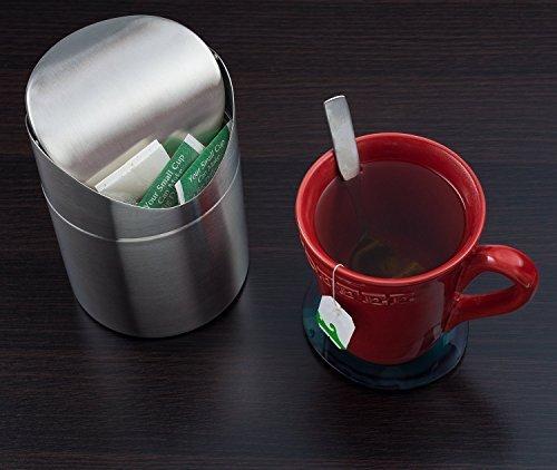 SANLINKEE Mini pattumiera per riciclaggio mini pattumiera da scrivania mini metal Trash can desktop secchiello perfetto per la cucina bagno ufficio auto