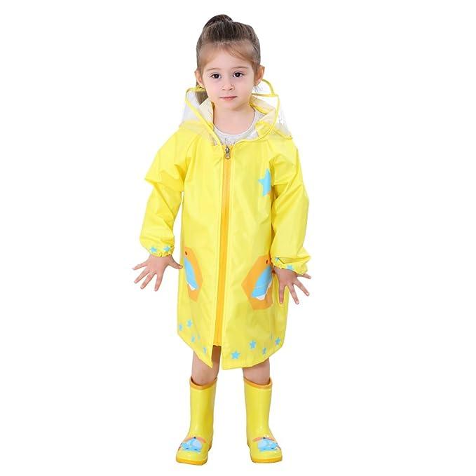 e0eb10eb6 Zilee Niños Traje de Lluvia Chubasquero Niña Traje de Lluvia para Niños  Impermeable Pantalones Chubasquero Poncho, Deportes, Cámping, Viajes, Al  Aire Libre: ...