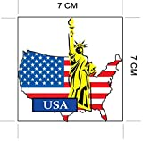 USA America National Flag and Map Sticker for customization of favorite items such as suitcases