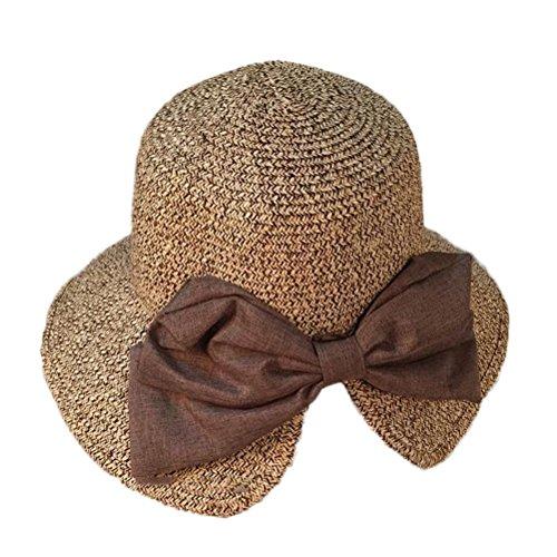 - Nanxson TM Womens Elegant Straw Hat/Sunhat Cap With Bowknot MZW0048 (Khaki)