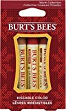 Burt's Bees Kissable Color Holiday Gift Set, 3 Lip Shimmer In Gift Box, Warm Collection For Sale
