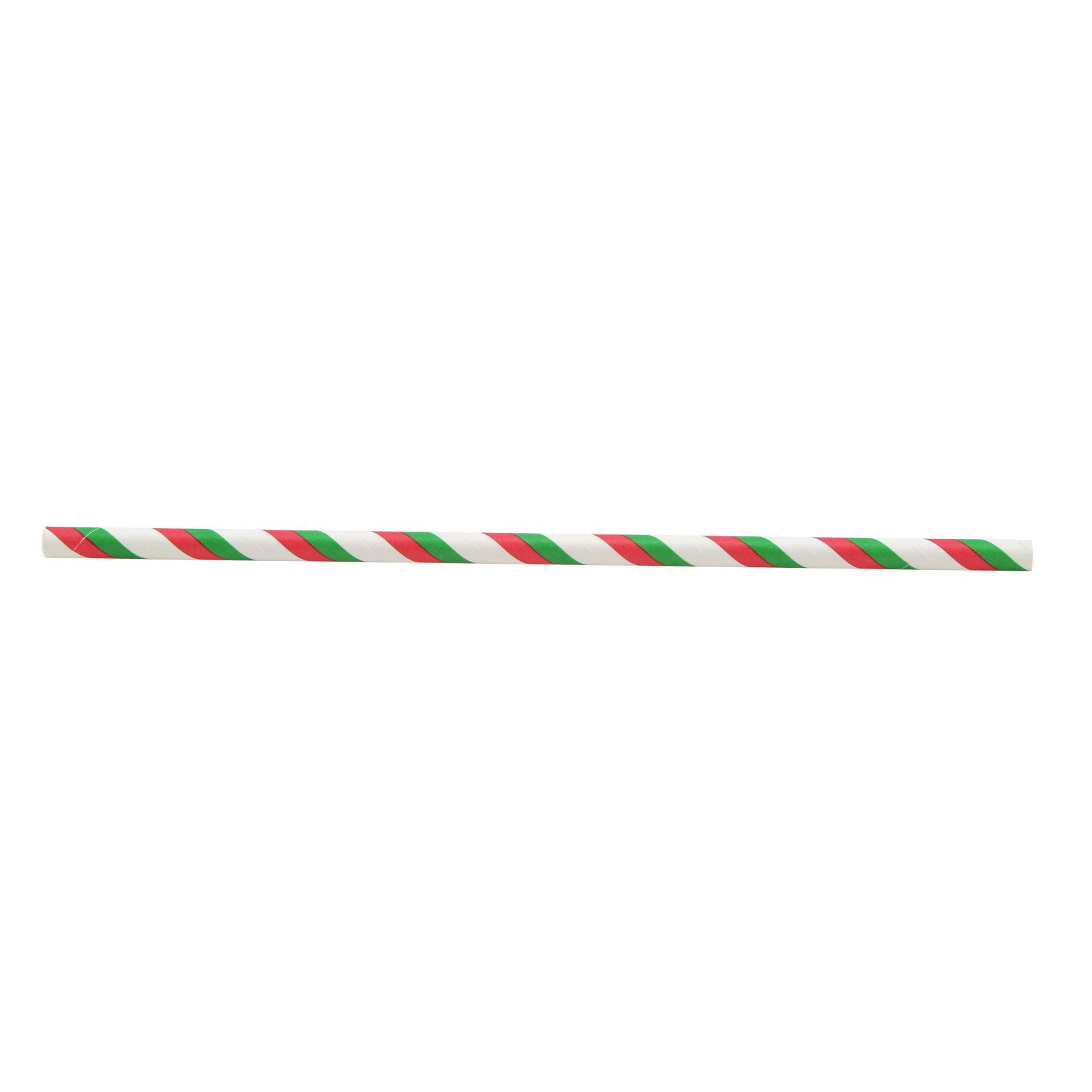 Zinnor Paper Stripe Straws,25 PCS Paper Drinking Straws for Birthday Festival Party Table Decorations (Red Green)
