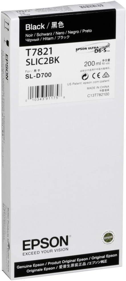 Epson T782100 T782 200ml Black Ink D700