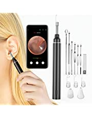 VITCOCO Ear Wax Remover Wireless Ear Cleaner, 3mm WiFi Ear Wax Removal Otoscope, 5MP 1920P FHD Ear Camera with 6 LED Lights, Portable Visual Ear Cleaner Tool for iPhone Android Smartphone