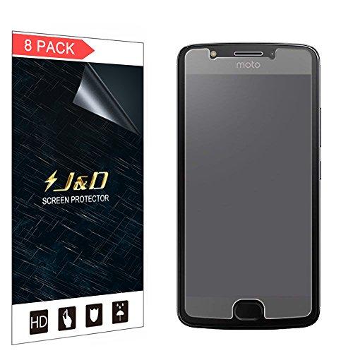 J&D Compatible for 8-Pack Moto E4 (5.0) Screen Protector, [Anti-Glare] Matte Film Shield Screen Protector for Motorola Moto E4 (5.0) Matte Screen Protector - [NOT for Moto E4 Plus 5.5]
