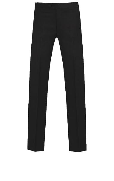 Dobell Hombre Pantalones De Esmoquin Negros Pitillo Pierna Negro ...
