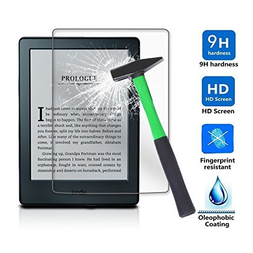 "Price comparison product image Infiland Kindle 6"" E-reader Screen protector,  Premium HD clear Tempered Glass Screen Protector for All-New Kindle 2016 Release 8th Generation Only"