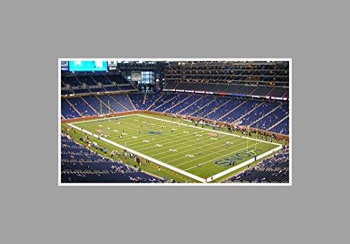 ArtsyCanvas Ford Field - Football - 36x20 Matte Poster Print Wall Art