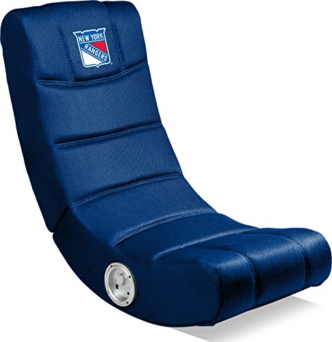 Imperial Officially Licensed NHL Furniture: Ergonomic Video Rocker Gaming Chair with Bluetooth, New York Rangers for $<!--$126.57-->