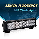 """12"""" Light Bar 72W Offroad Reverse BackUp Fog Light on Auxiliary Front Roof Rack Rear Bumper Grill Golfball Picker Jeep Lawnmower Rzr Quad Yamaha Side By Side Utv Go Karts Chevy Tractor Snowblower"""