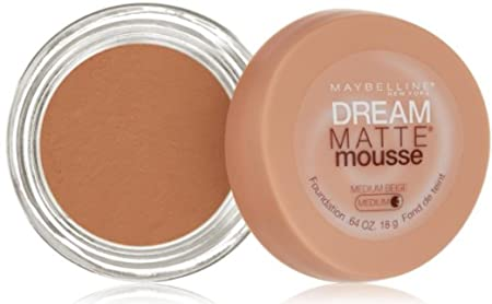 Maybelline Dream Matte Mousse Foundation, Medium Beige 3 , 0.64 oz Pack of 3