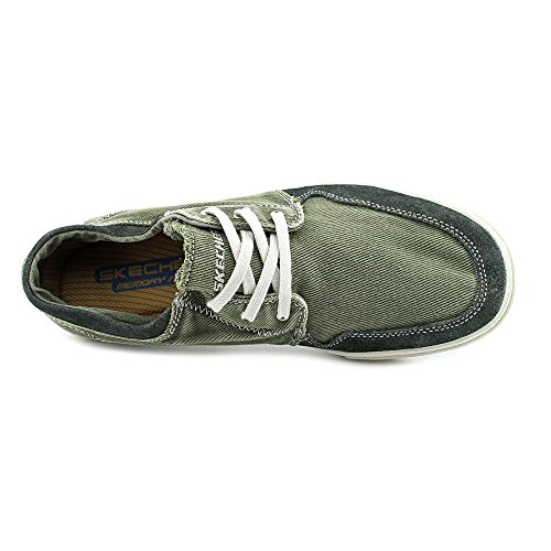 Skechers Mens 64021 Dario Morrie Canvas Fashion Sneaker Charcoal 2014 newest cheap price visa payment cheap price 5HZGMA