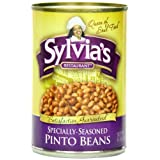Sylvia's Seasoned Pinto Beans, 15 Ounce (Pack of 12) by Sylvia's