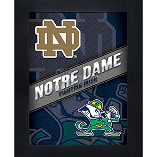(Notre Dame Fighting Irish 3D Poster Wall Art Decor Framed Print | 14.5x18.5 | ND Lenticular Posters & Pictures | Gifts for Guys & Girls College Dorm Room | NCAA)