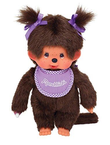 Monchhichi Girl - Purple Bib