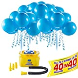 Bunch O Balloons Portable Party Balloon Electric Air Pump Starter Pack (Includes 40X 11' Self-Sealing Blue Latex Balloons) (Custom Pack) By Zuru
