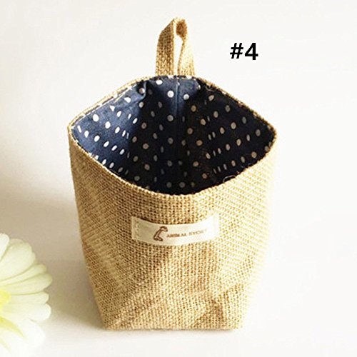 [Linen Desk Storage Box Holder Cosmetic Stationery Hanging Organizer Case Baskets ,Peace heart box stationery , The Morning Star Bucks coffee] (Homemade Halloween Costumes For Toddlers Ideas)
