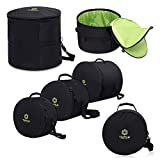 TURTLE GEAR Extra Thick Padded Nylon Drum Case Bags: Standard 5-piece Set