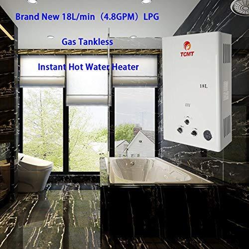 Tengchang 18L LPG Propane Gas Hot Water Heater Tankless Instant Boiler Digital Display Shower Home by Tengchang (Image #4)