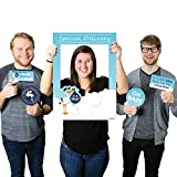 Big Dot of Happiness Boy Special Delivery - Blue It's A Boy Stork Baby Shower Selfie Photo Booth Picture Frame & Props - Printed on Sturdy Material