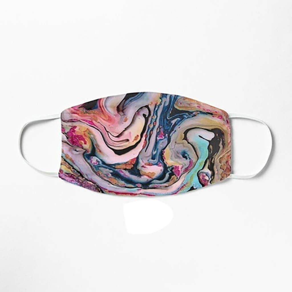 Mundschutz f/ür Damen und Herren waschbar NIMIZI Batik-Gesichtsbandanas mit buntem Druck staubdicht atmungsaktiv