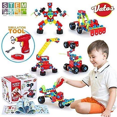 0f06b9b71 Amazon.com  VATOS Building Blocks Toy for Kids