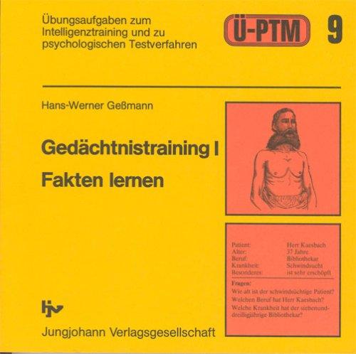 Übungsaufgaben zum psychologischen Test für das Medizinstudium (Ü-PTM), Bd.9, Gedächtnistraining