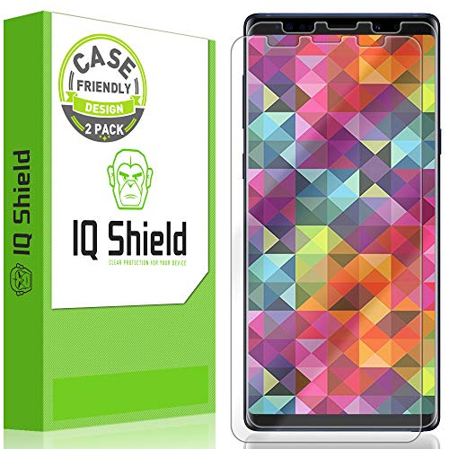 IQ Shield Screen Protector Compatible with Samsung Galaxy Note 9 (2-Pack)(Case Friendly) LiquidSkin Anti-Bubble Clear Film (Note 2 Case Best)