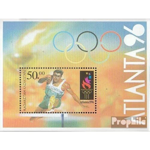 kazakhstan Bloc 5 (complète.Edition.) 1996 Jeux Olympiques Jeux le temps modernes (Timbres pour les collectionneurs)