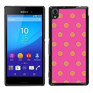 EJOY---Cubierta de la caja de protección para la piel dura ** Sony Xperia M4 Aqua ** --Modelo rosado fucsia naranja feliz