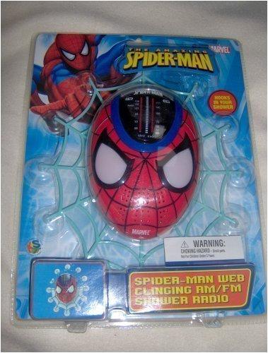 Spider-man Web Clinging AM/FM Shower Radio
