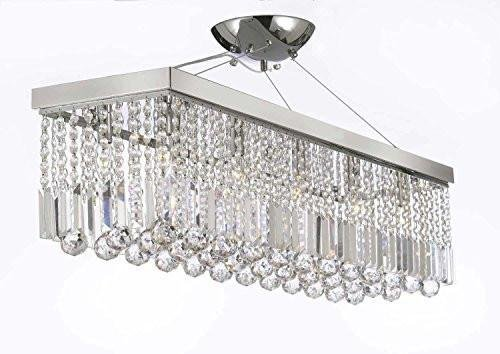10 light 40 contemporary crystal chandelier rectangular chandeliers 10 light 40quot contemporary crystal chandelier rectangular chandeliers lighting silver aloadofball Image collections