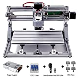 DIY CNC Router Kits 3018 GRBL Control Wood Carving Milling Engraving Machine (Working Area 30x18x4.5cm, 3 Axis,...