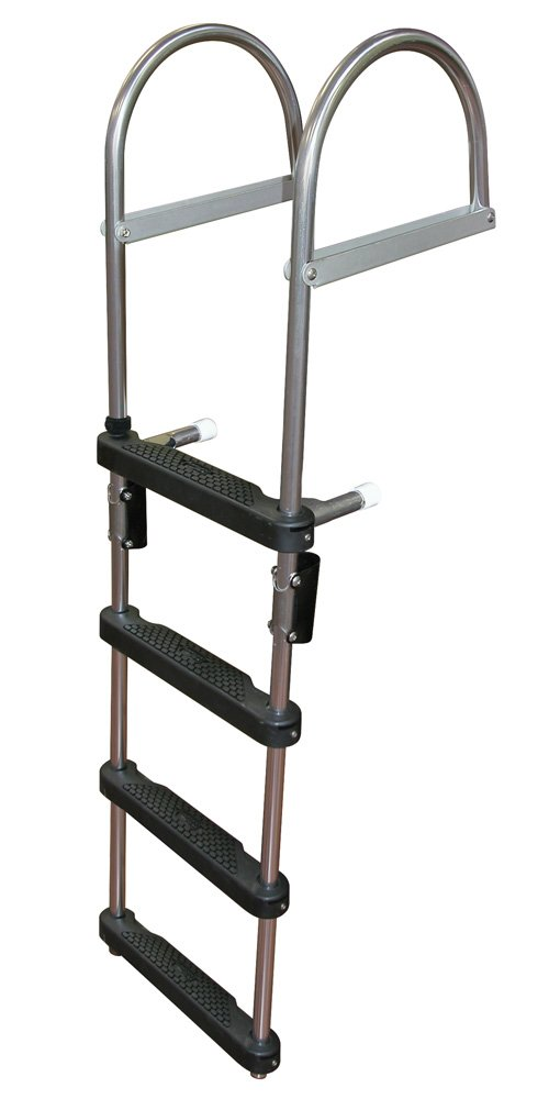 JIF Marine EPZ4 Transom Pontoon Ladder, 4-Step