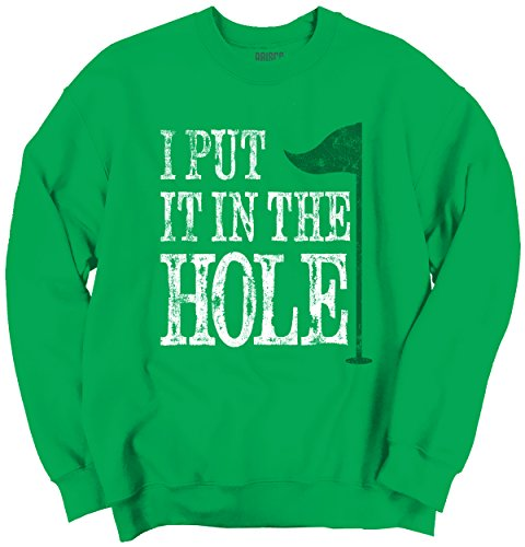 Classic Teaze I Put In Hole Golf Funny Shirt | Cute Cool Rory mcilroy Tiger Sweatshirt (Sweatshirt Classic Tiger)