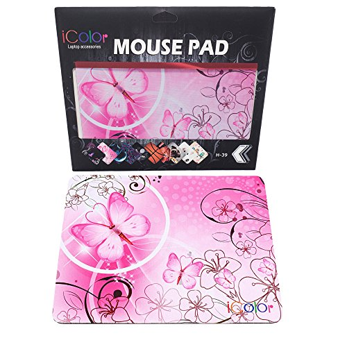 ICOLOR Butterfly Anti Slip Mousepad Optical product image