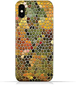 AMC Design Apple iPhone XS TPU Silicone Protective case with Stained Glass Art Pattern