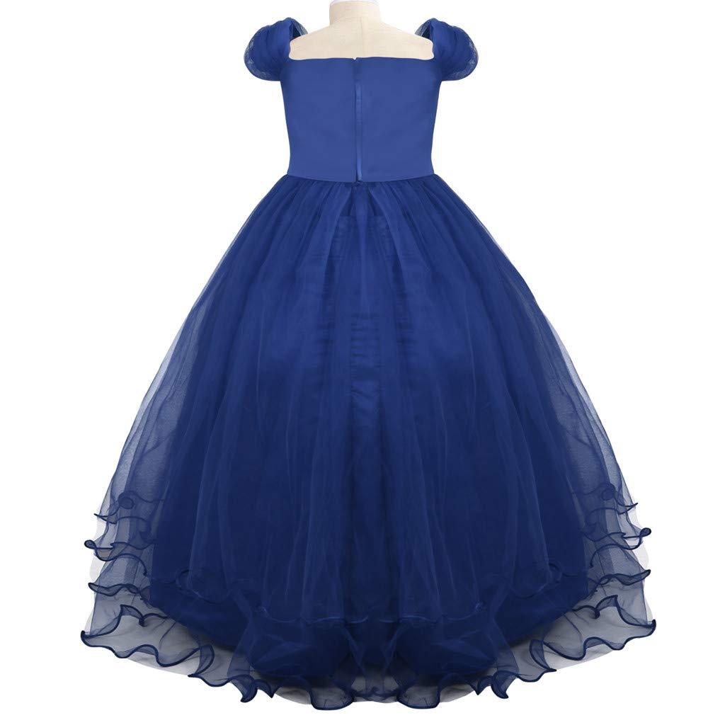 Jarsh Baby Girl Lace Flower Princess Dresses Bridesmaid Summer Party Wedding Dress