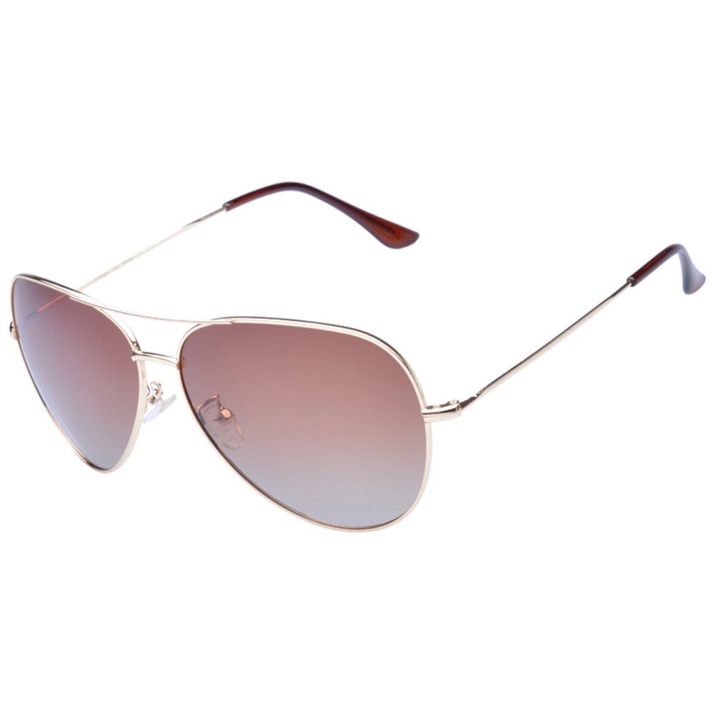 Diamond Candy メンズ ファッション アウトドア偏光サングラス UV400ゴーグル スポーツ運転男性  ゴールドブラウン B01LXI5IBY