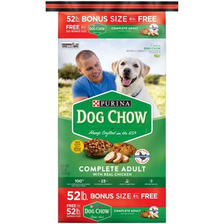 Purina Dog Chow Complete Adult Dry Dog Food, 52 Lb.