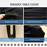 HAORUI 6ft Spandex Arched Table Cover Stretch